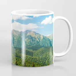 Carpathian Mountains Landscape, Summer Travel Landscape, Transylvania Mountains, Forests Of Romania Coffee Mug
