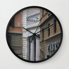 Peeking Pantheon Wall Clock