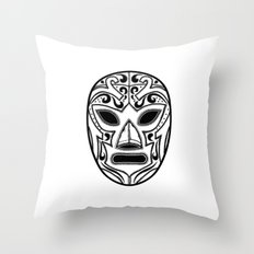 Mexican Wrestling Mask Throw Pillow