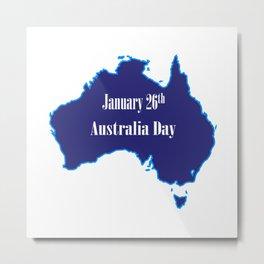 January 26th Australia Day Metal Print