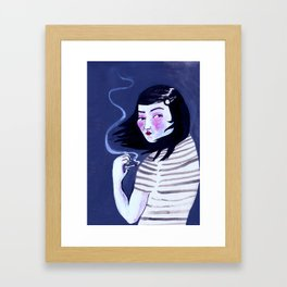 The Weather is Always Shit When You've Got To Be Somewhere. Framed Art Print