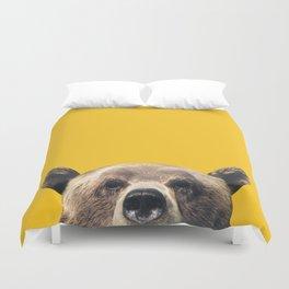 Bear - Yellow Duvet Cover