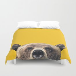 Bear - Yellow Duvet Cover