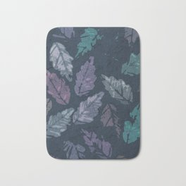 Abstract leaf painting Bath Mat