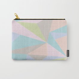 Pastel Triangles Carry-All Pouch
