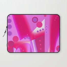 Color Blocks Pink and Burgundy Laptop Sleeve