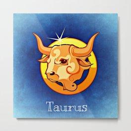 Zodiac_Sign_Taurus Metal Print