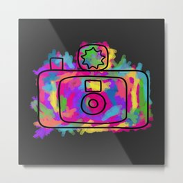 Colorful Camera Metal Print