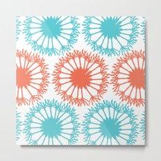 Dandelion Pattern Metal Print