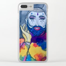 Danny Beard Rainbow Clear iPhone Case
