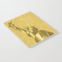 Gold Statue of Liberty on the Gold-leaf Screen Notebook