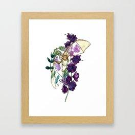 Birthday Floral Bat Framed Art Print