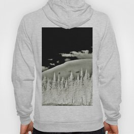 Abstract Dragon Clouds over Textured Mountain Forest Hoody