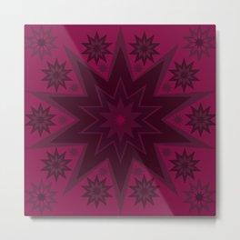 Mulled Berry Wine Star Flower Metal Print
