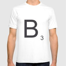 Scrabble B MEDIUM Mens Fitted Tee White
