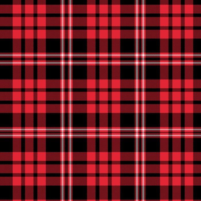 Red & Black Tartan Plaid Pattern Leggings