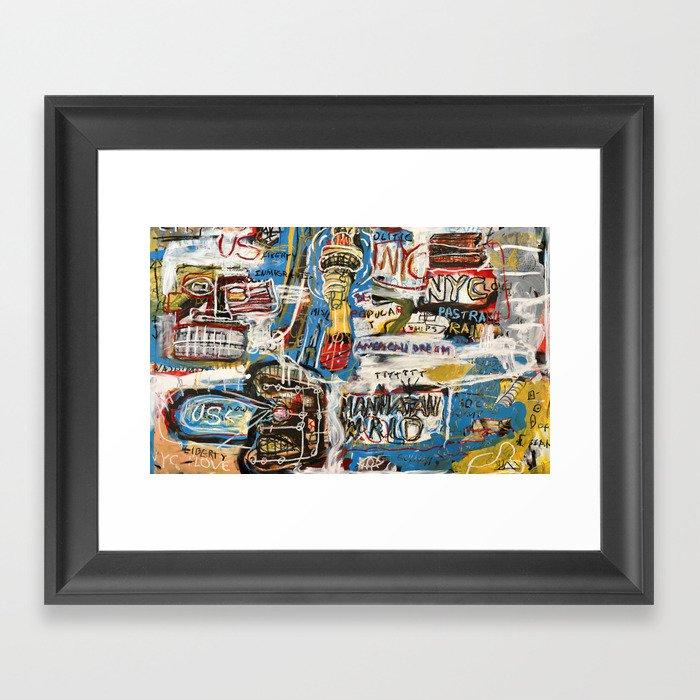 Manhattan World Gerahmter Kunstdruck