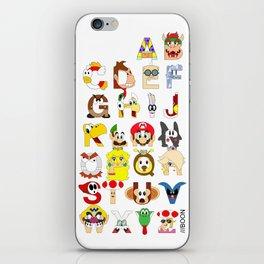 Super Mario Alphabet iPhone Skin