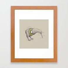 Kiwi Anatomy Framed Art Print
