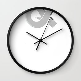 Ghosts & Horses logo tee Wall Clock