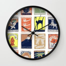 Matchboxes Wall Clock