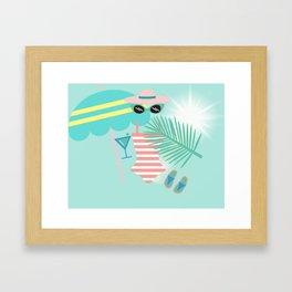 Palm Springs Ready Framed Art Print