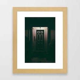 Night Door Framed Art Print