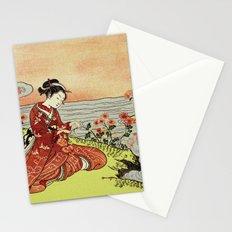 Transformation of Kikujido - Vintage Japanese Woodblock Stationery Cards