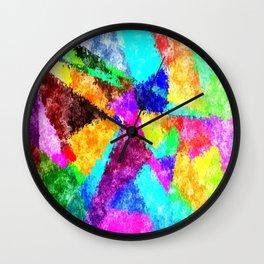 Formes géométriques multicolore Wall Clock