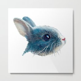 cute bunny illustration Metal Print