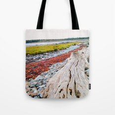 Beach Lines at Seawall Tote Bag