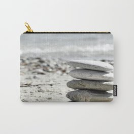 Balancing Stones On The Beach Carry-All Pouch