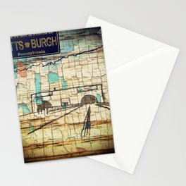 Distressed Compilation Stationery Cards