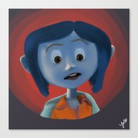 coraline Canvas Prints featuring Coraline by Jaderl