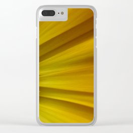 Yellow Aster Clear iPhone Case