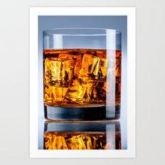 Burning drink Art Print