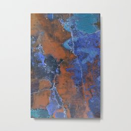 Grunge Colorful Abstract Texture Print Metal Print