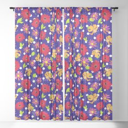 floral kingdom Sheer Curtain