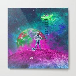 Space & Ladders Metal Print