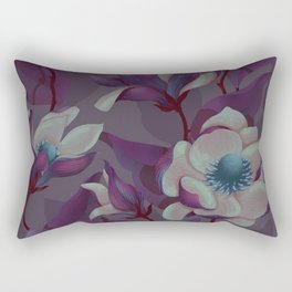 magnolia bloom - nighttime version Rectangular Pillow