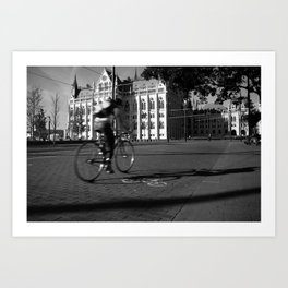 Bicycle and Budapest Art Print