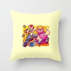Beware The Blue Shell Throw Pillow