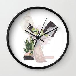 pink & plants 4 Wall Clock