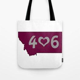 406 : Missoula, Montana Tote Bag