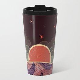 MOON WAVE NIGHT Travel Mug