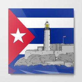 Faro Castillo del Morro Havana Metal Print
