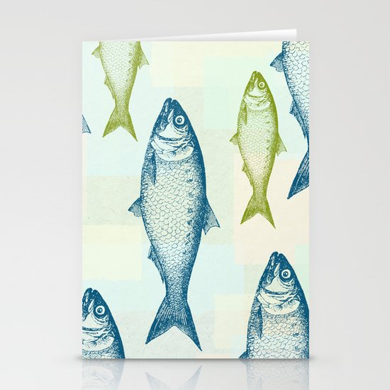 Vintage Fish Stationery Cards