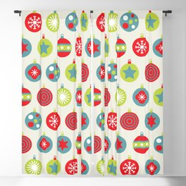 Colourful Christmas Bauble Pattern Blackout Curtain