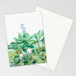 Succulent Patch Stationery Cards