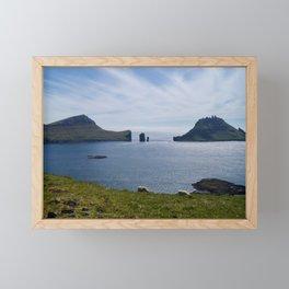 faroe islands Framed Mini Art Print